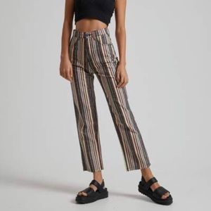 Afends high-waisted Shelby striped pants